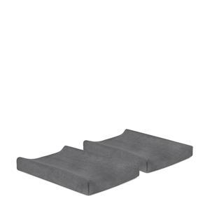 aankleedkussenhoes badstof 50x70cm - set van 2 grey