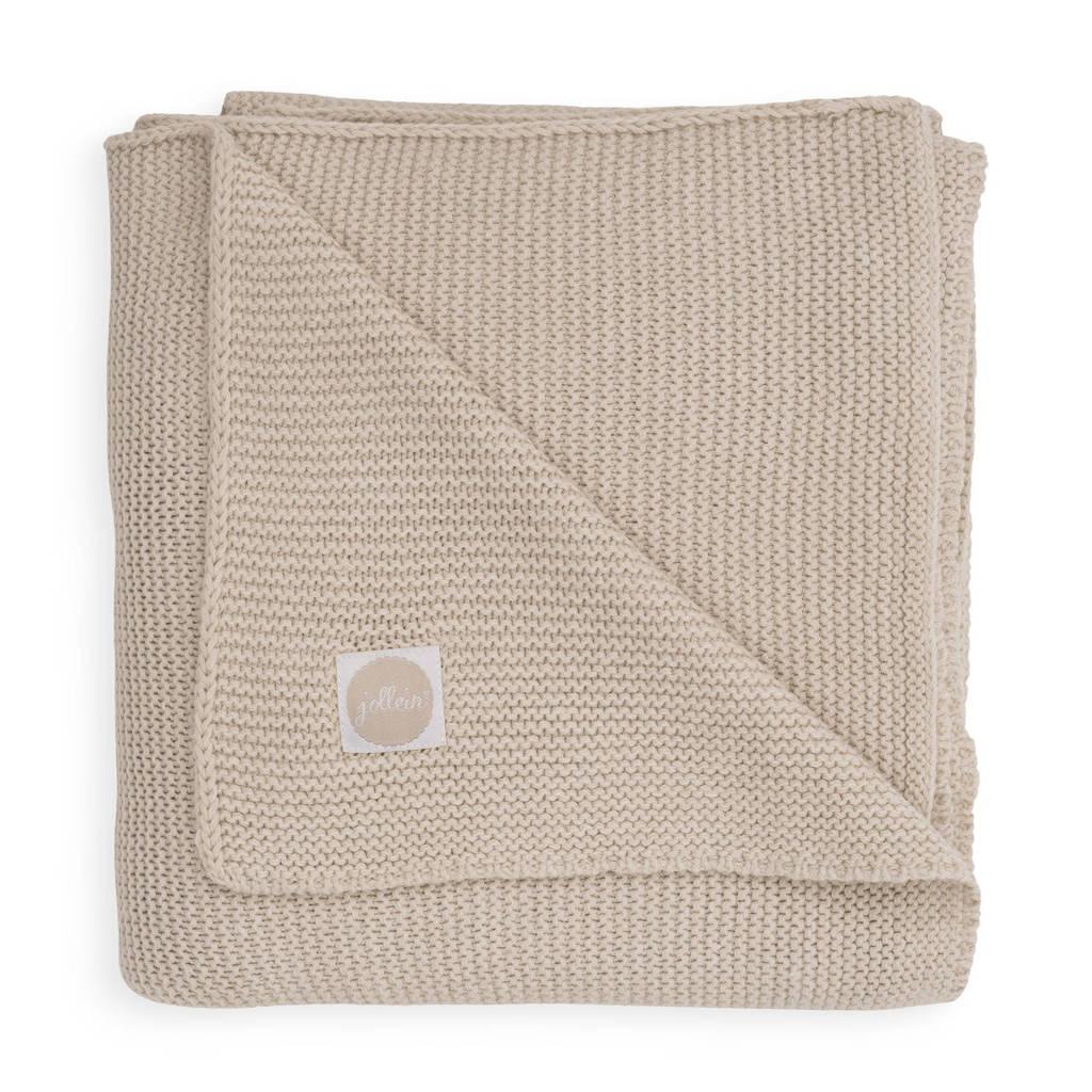 Jollein baby ledikant deken 100x150cm Basic knit nougat, Beige