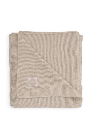 baby ledikant deken 100x150cm Basic knit nougat