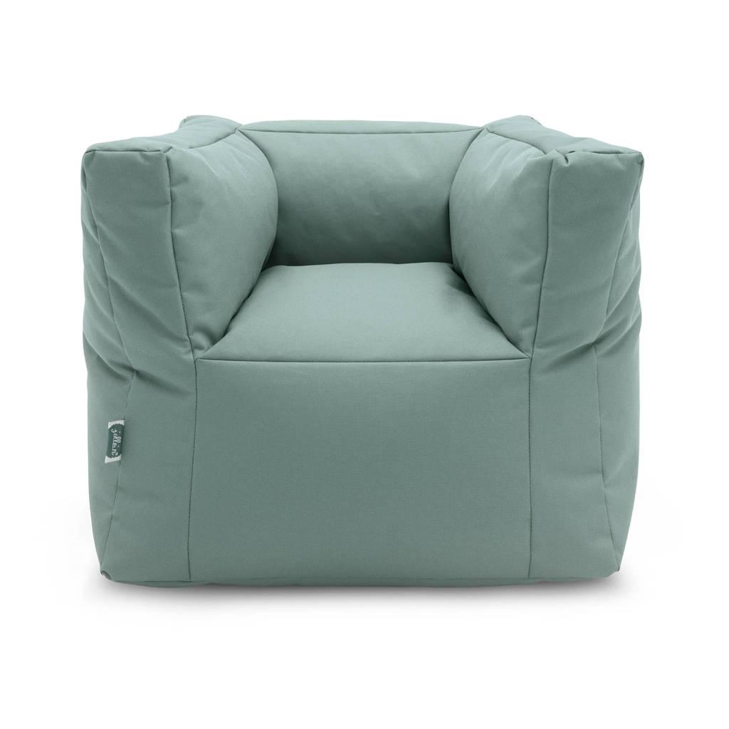 Jollein fauteuiltje Beanbag green, Groen