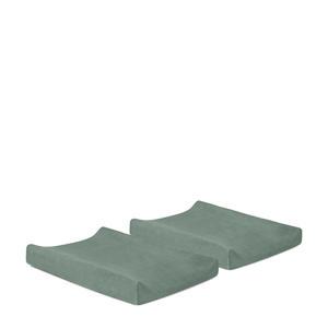 aankleedkussenhoes badstof 50x70cm - set van 2 ash green