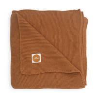 Jollein baby ledikant deken 100x150cm Basic knit caramel, Bruin