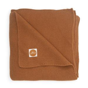 baby ledikant deken 100x150cm Basic knit caramel