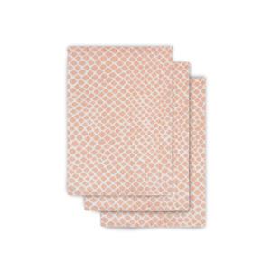 hydrofiel washandje hydrofiel - set van 3 Snake pink