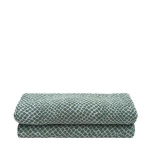 hydrofiel multidoek large 115x115cm - set van 2 Snake ash green