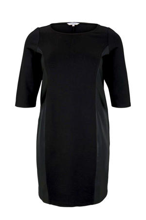 coated jurk zwart