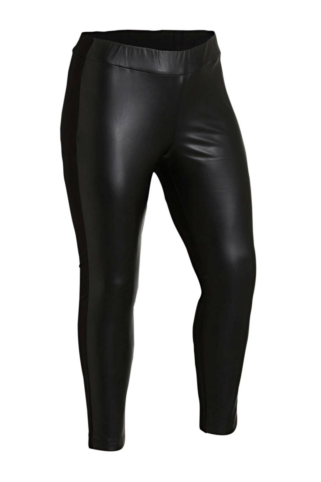 Tom Tailor My True Me coated legging zwart, Zwart