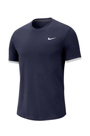 tennisshirt donkerblauw