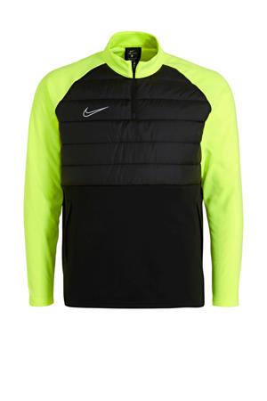 sportsweater zwart/geel