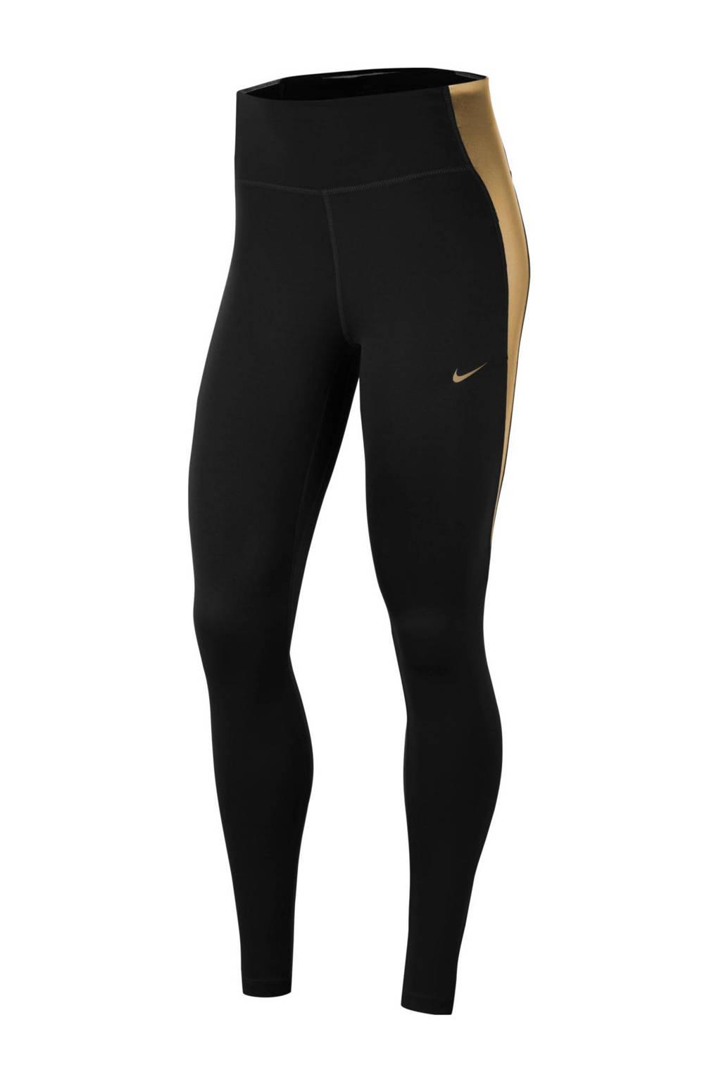 Nike sportbroek zwart/goud, Zwart/goud