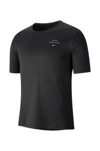 Nike   hardloopshirt zwart/zilver, Zwart/zilver