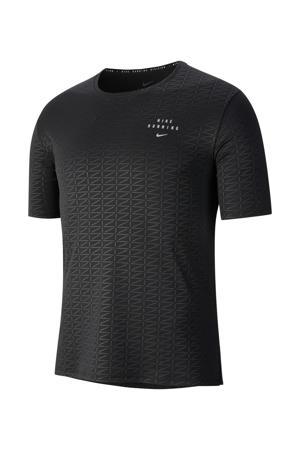 hardloopshirt zwart/zilver