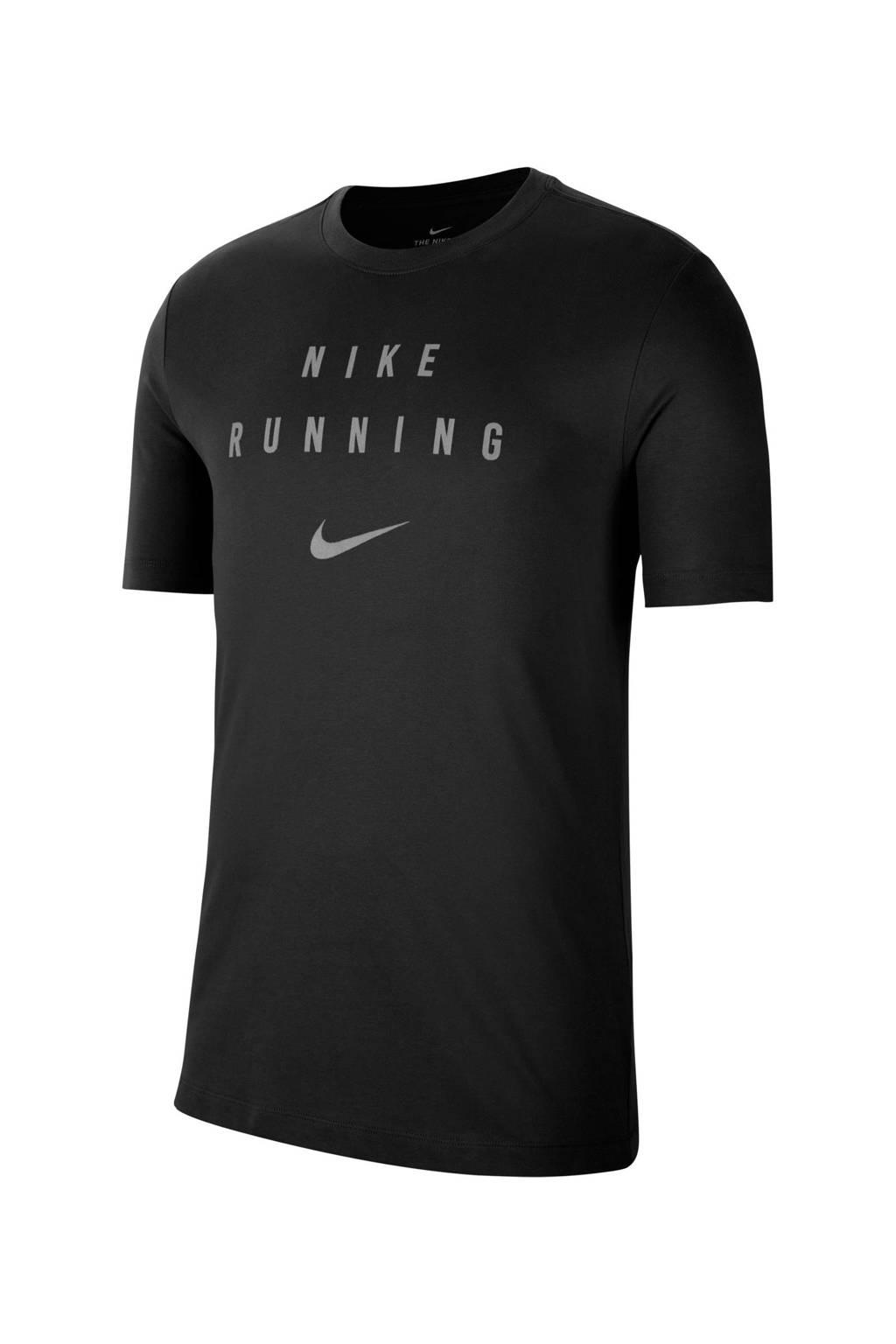 Nike   hardloopshirt zwart, Zwart