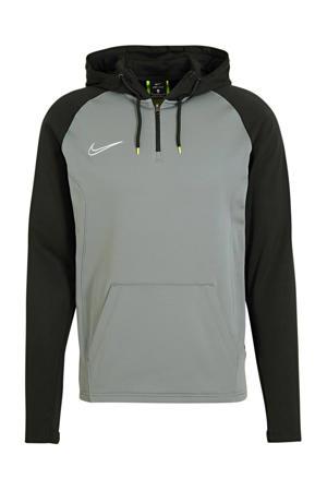 voetbalsweater zwart/grijs