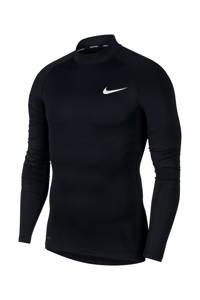 Nike   sportshirt zwart, Zwart/wit