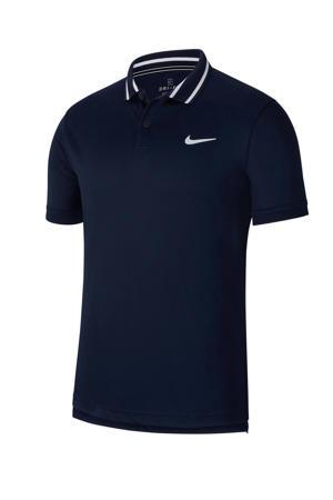 Sportpolo donkerblauw/wit