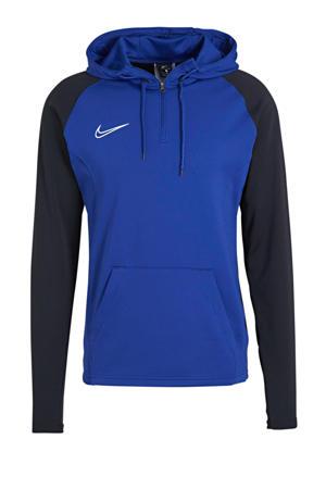 Senior  voetbalsweater blauw/zwart
