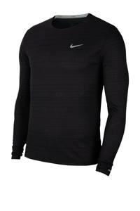 Nike   hardloopshirt zwart, Zwart/zilvergrijs