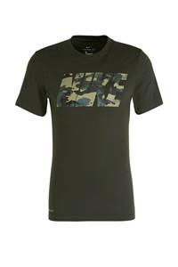 Nike   sport T-shirt donkergroen, Donkergroen