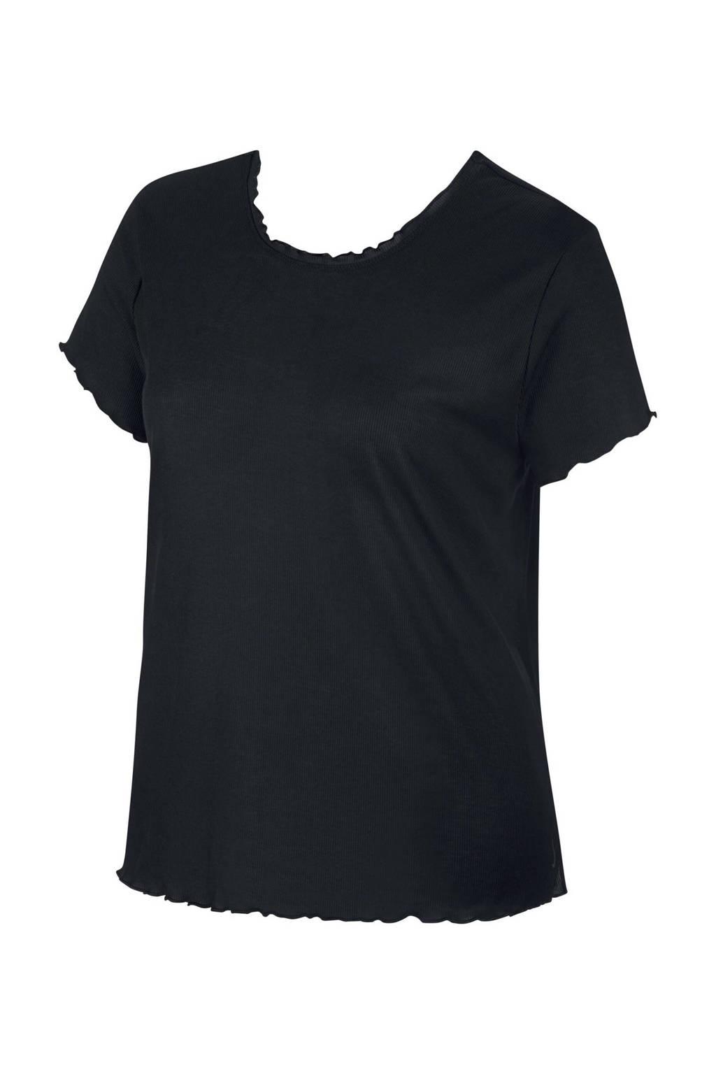 Nike sport T-shirt lichtroze, Zwart