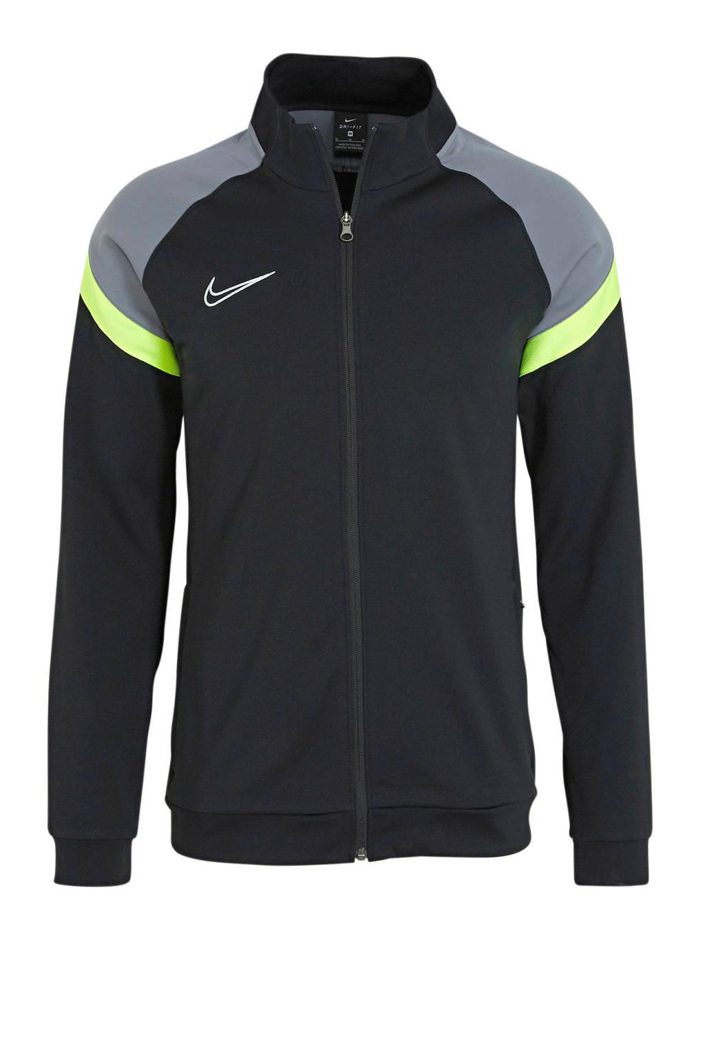 Nike Senior  sportjack zwart/grijs/geel, Zwart/grijs/geel