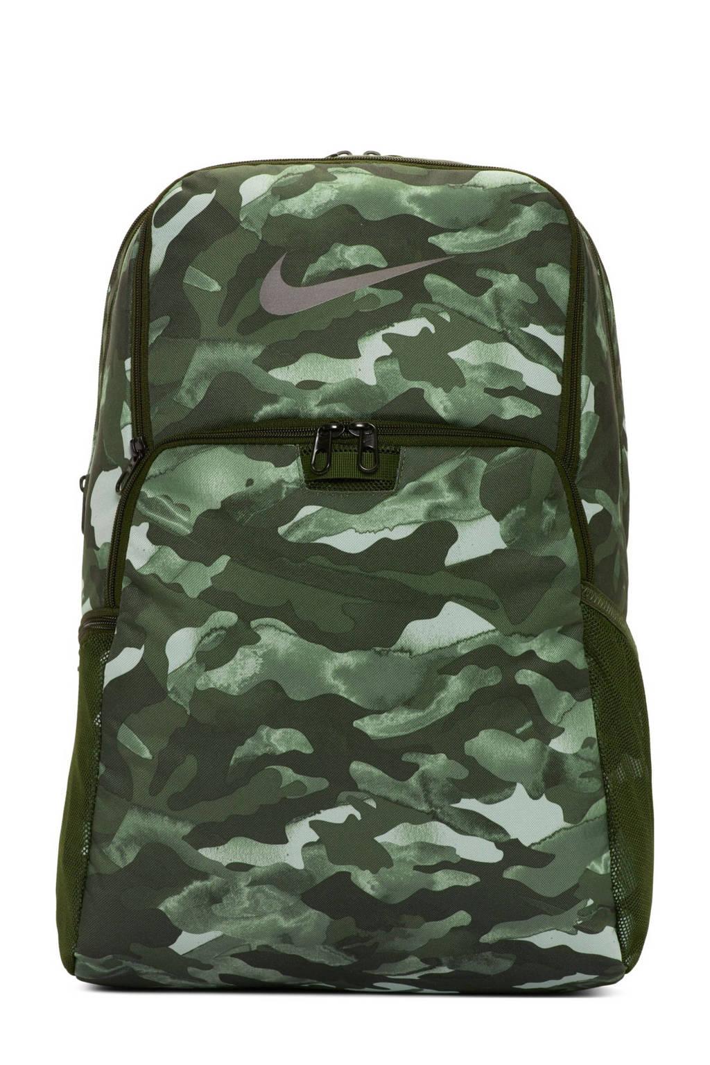 Nike   rugzak Brasilia XL zwart/grijs/groen, Zwart/grijs/groen