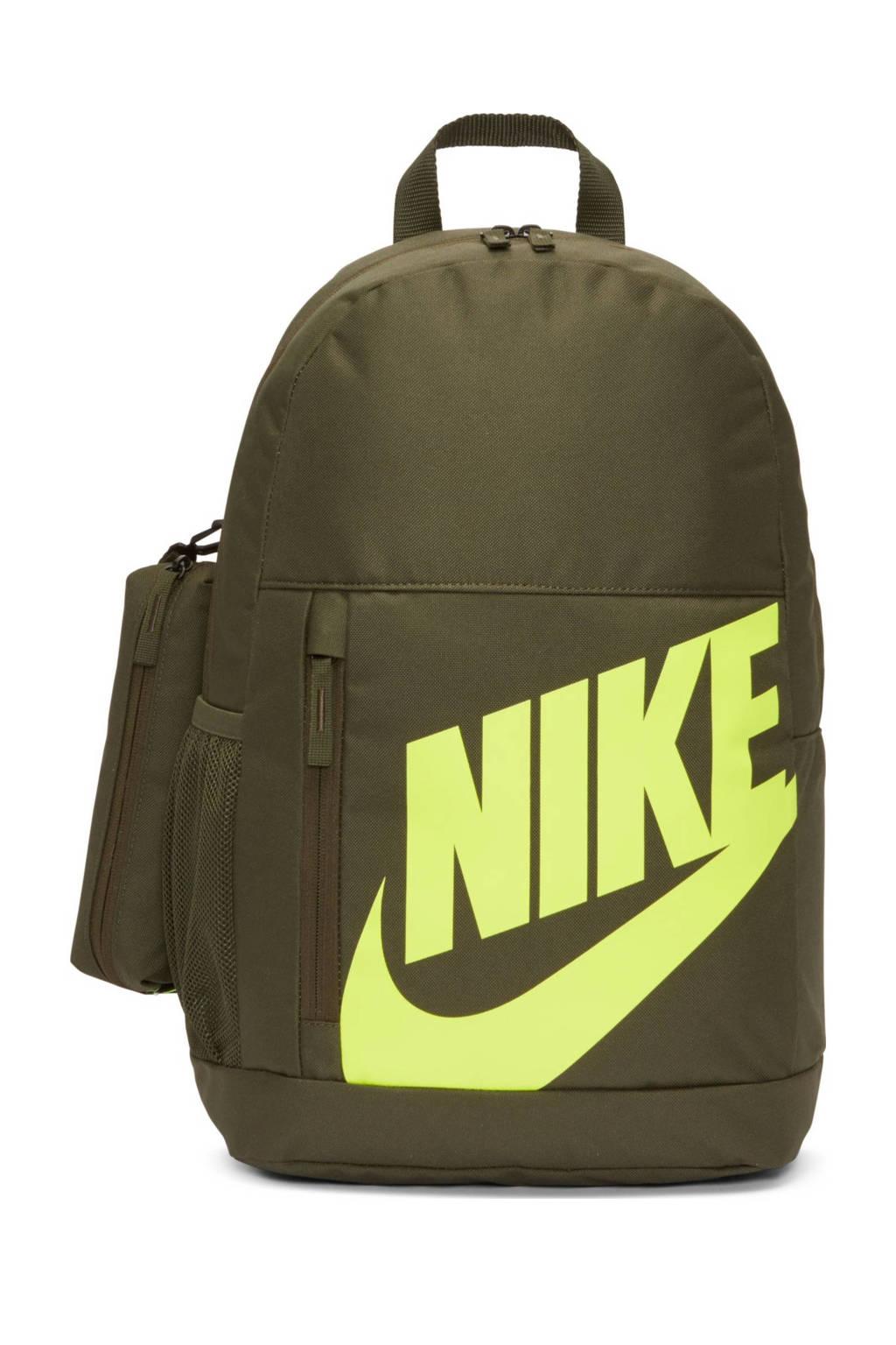 Nike rugzak Elemental kaki/geel, Kaki/geel