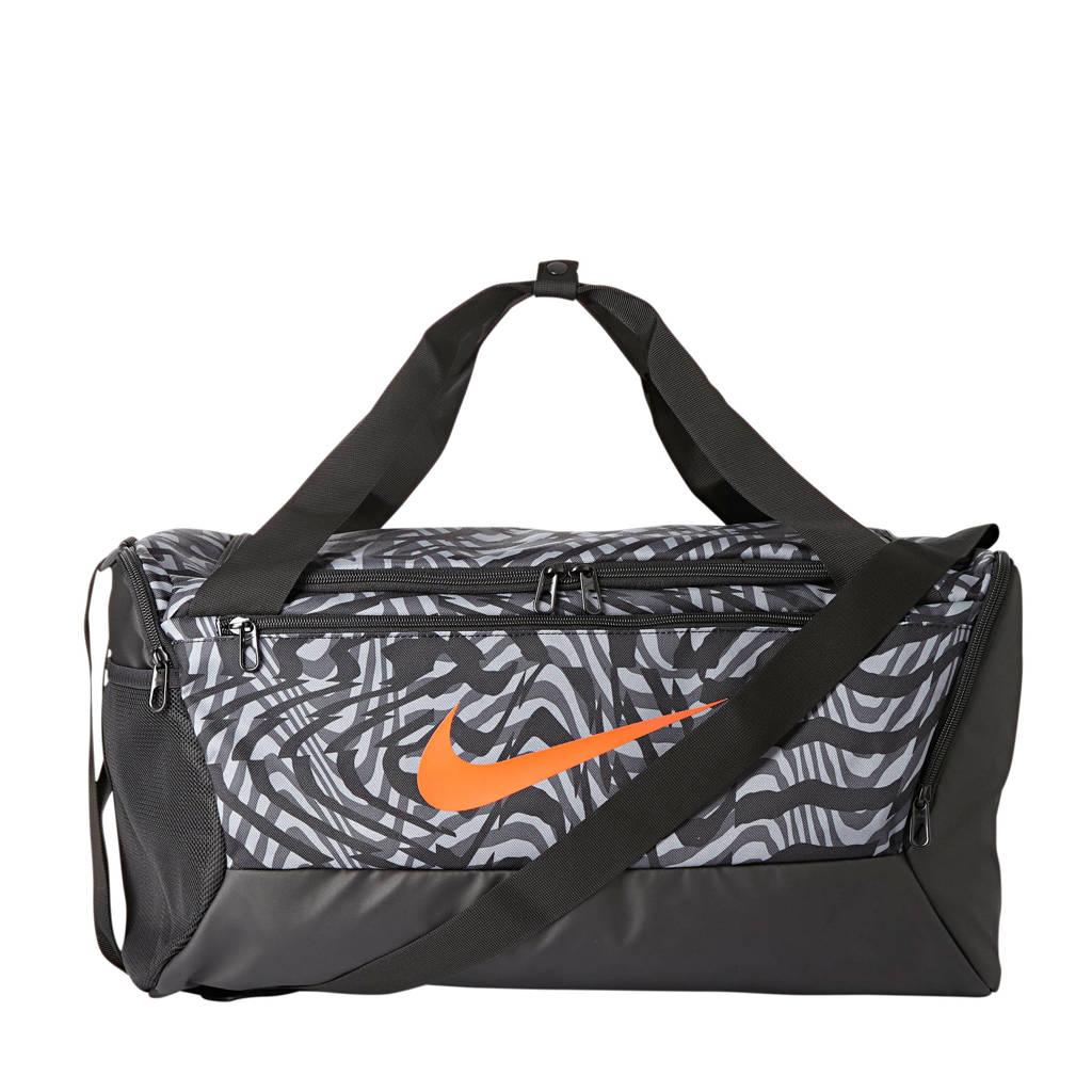 Nike   BRSLA DUFF  S sporttas roze, Zwart/grijs/oranje