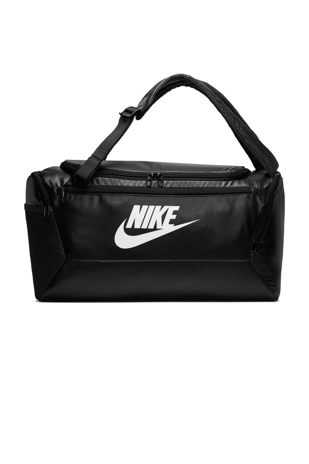 Nike   BRSLA DUFF  S sporttas zwart/wit, Zwart/wit