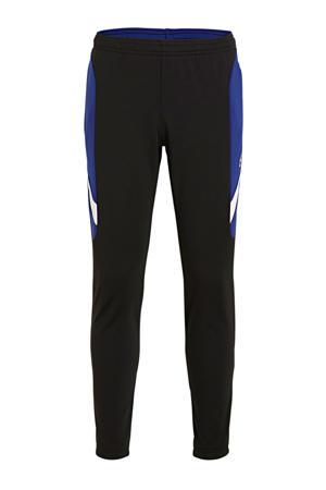Junior  voetbalbroek zwart/blauw