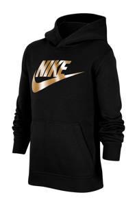 Nike hoodie zwart/goud, Zwart/goud