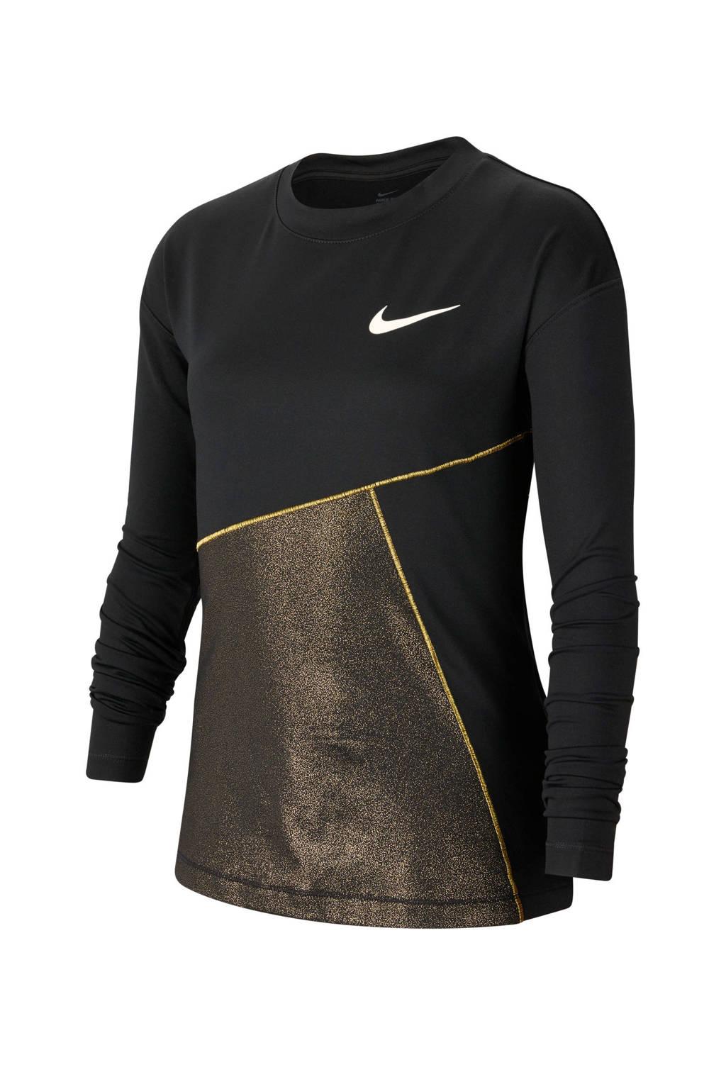 Nike T-shirt met logo zwart, Zwart