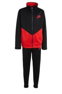 Nike   trainingspak zwart/rood, Zwart/rood