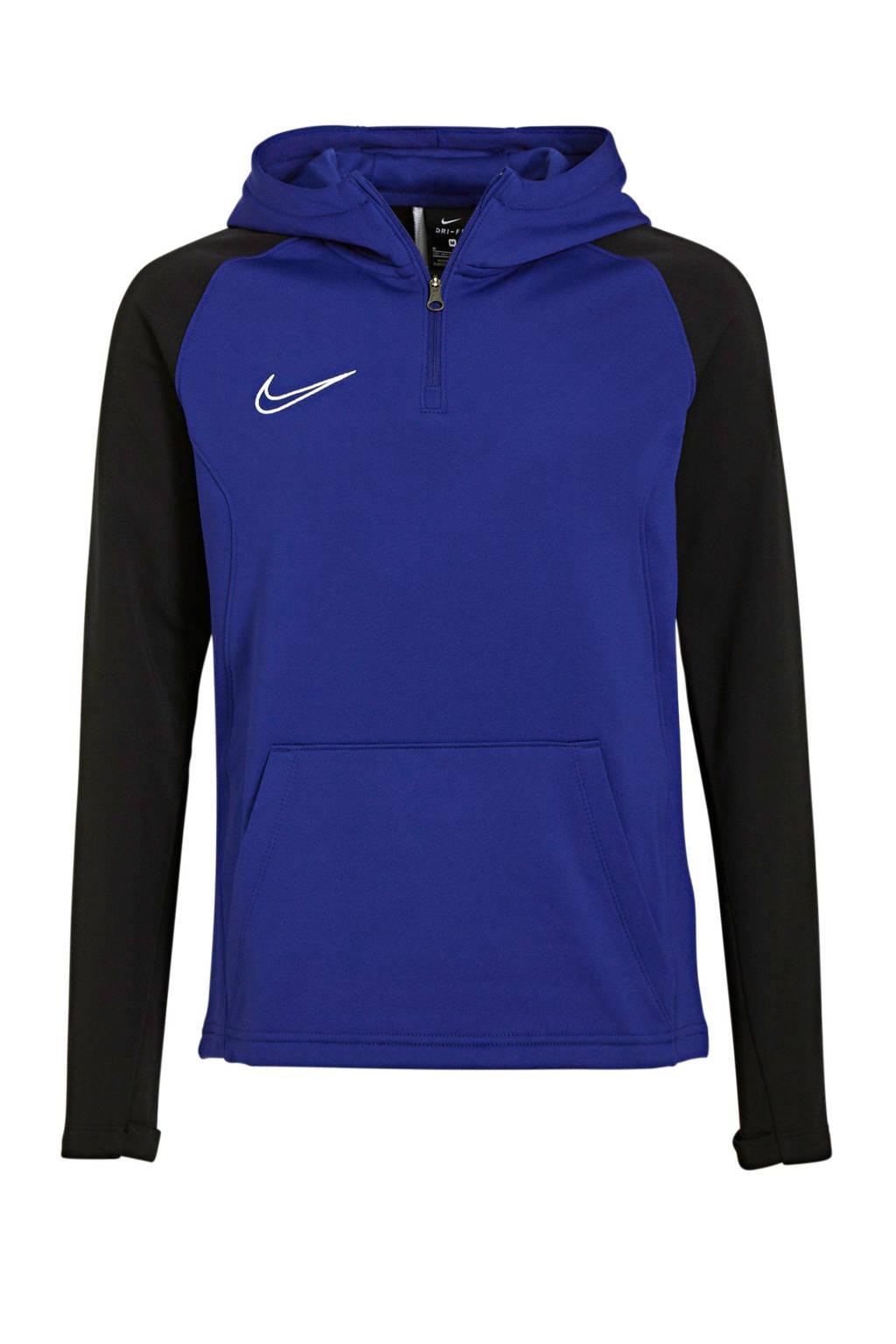 Nike   voetbalsweater zwart/blauw, Zwart/blauw