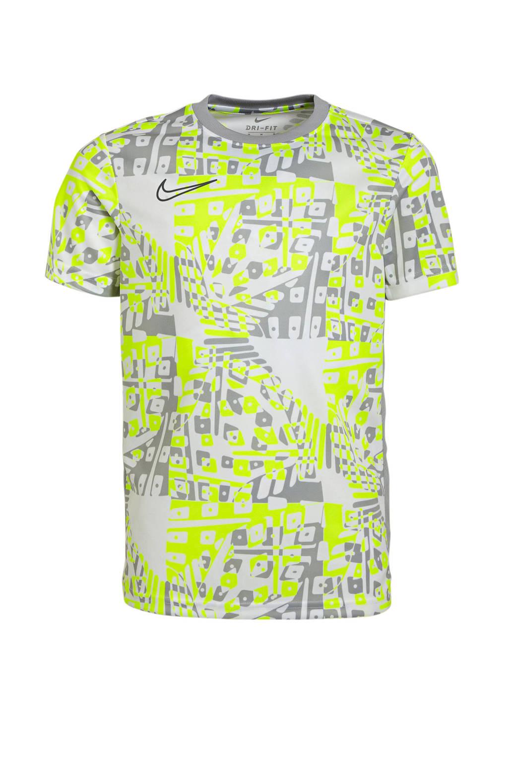 Nike Junior  sport T-shirt grijs/wit/geel