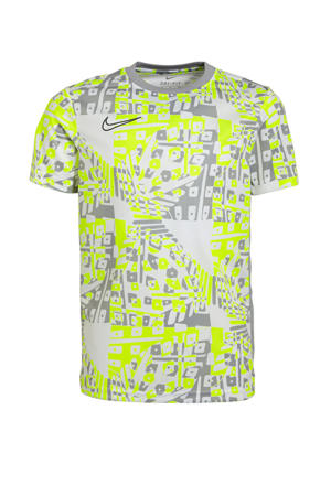 sport T-shirt grijs/wit/geel