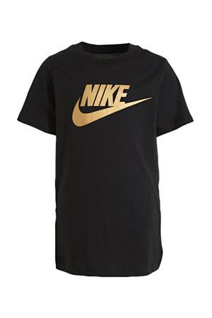 T-shirt zwart/goud