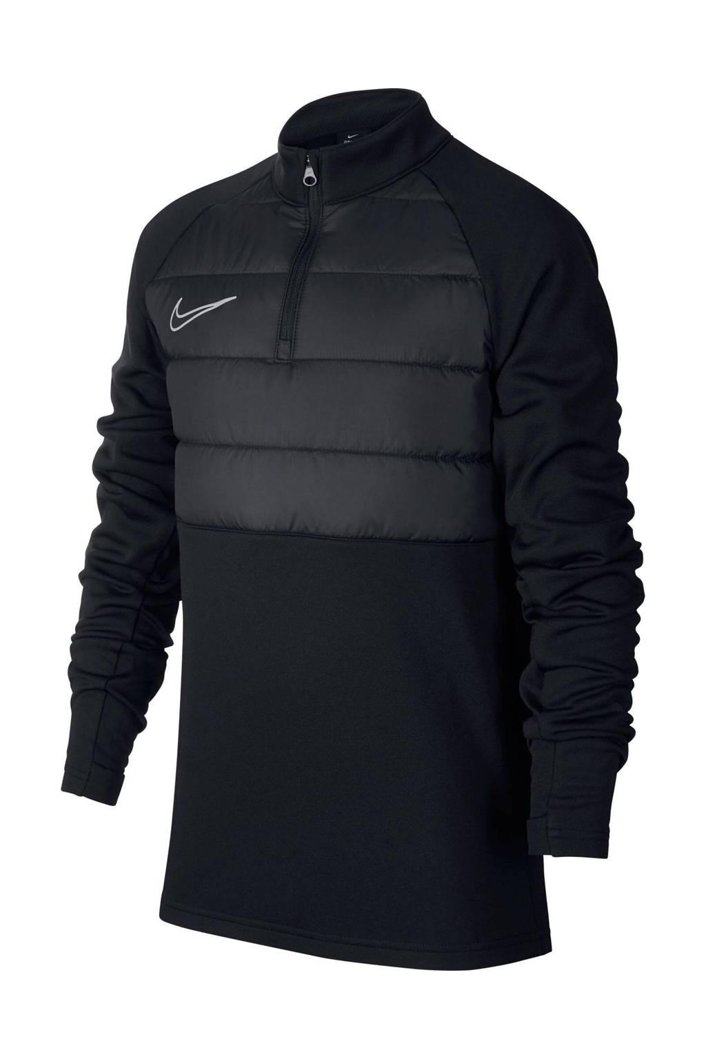 Nike   softshell sportsweater zwart, Zwart
