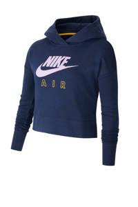 Nike cropped hoodie petrol, Petrol
