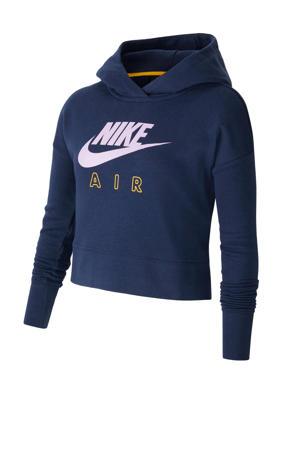 cropped hoodie petrol