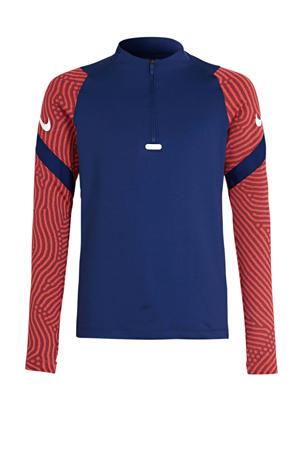Junior  voetbalshirt blauw/rood