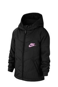 Nike gewatteerde winterjas zwart, Zwart