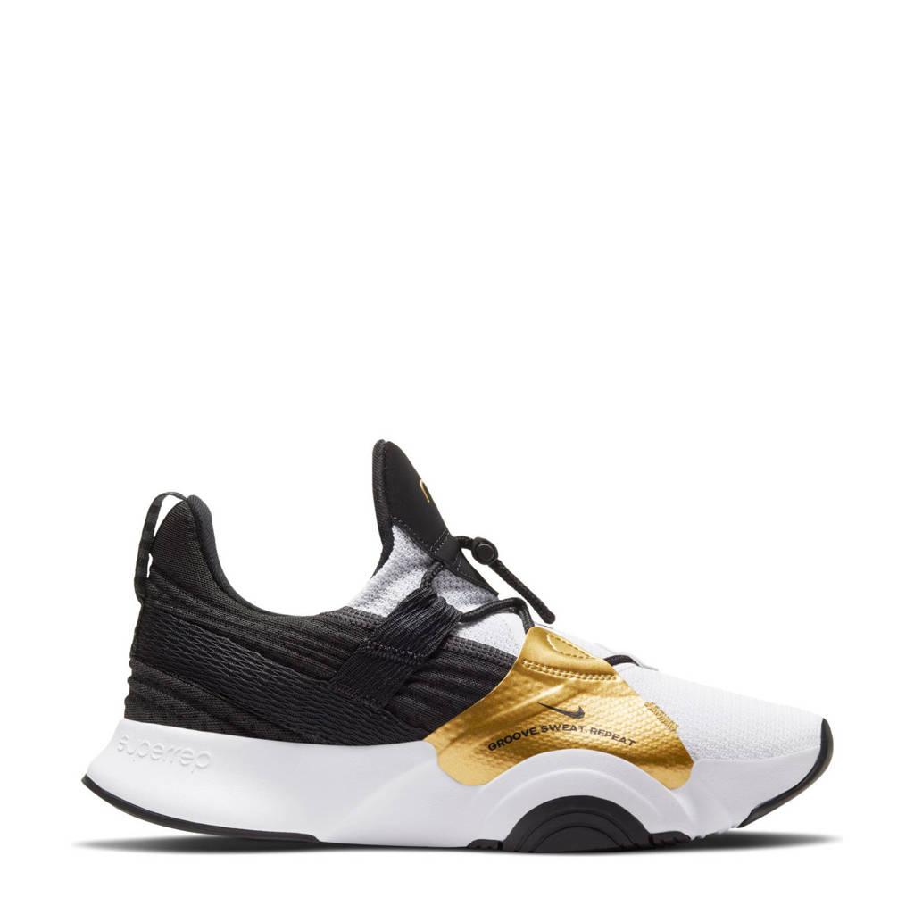 Nike SuperRep Groove fitness schoenen wit/zwart/goud, Wit/Zwart/Goud