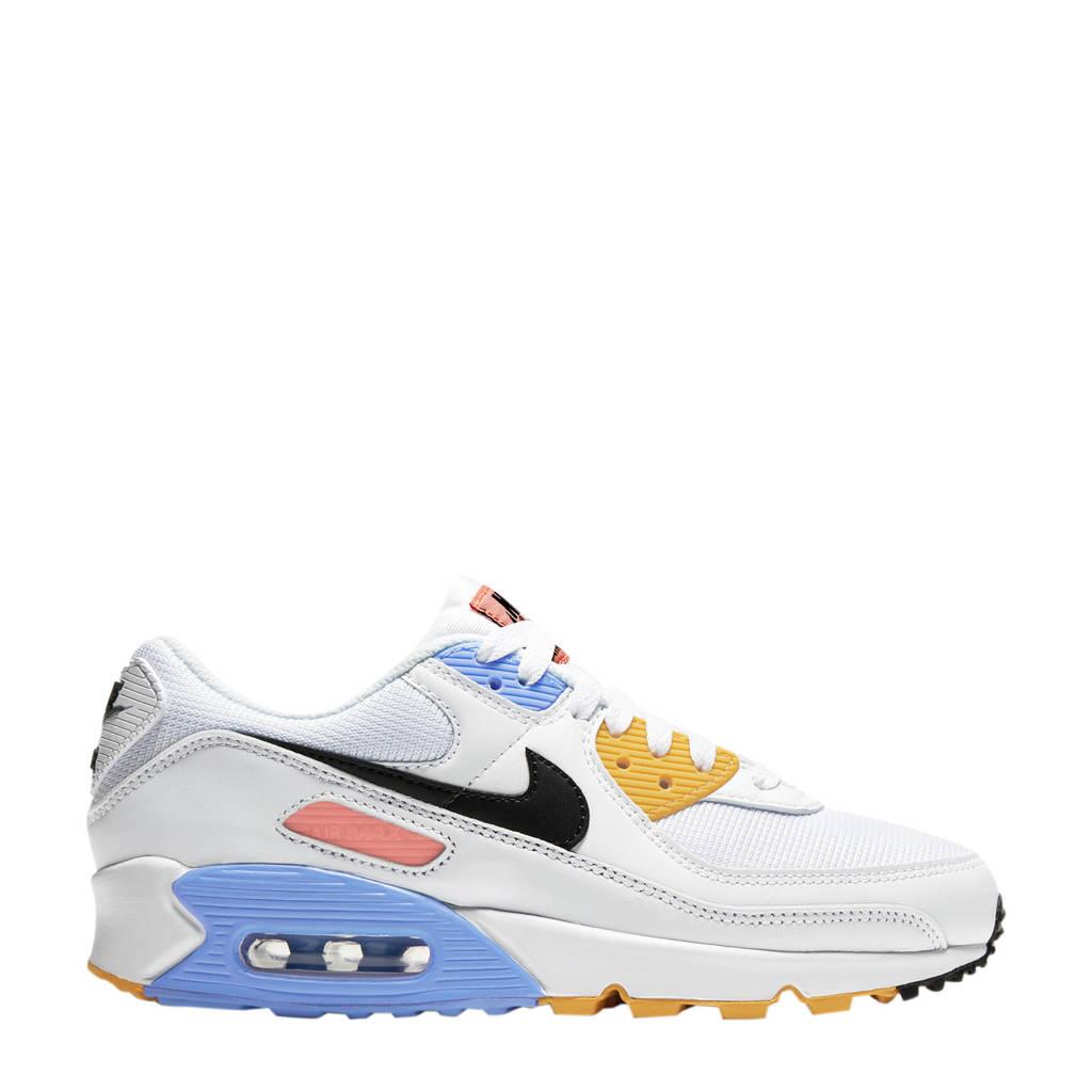 Nike Air Max 90 sneakers wit/zwart/zilver, Wit/Zwart/Zilver