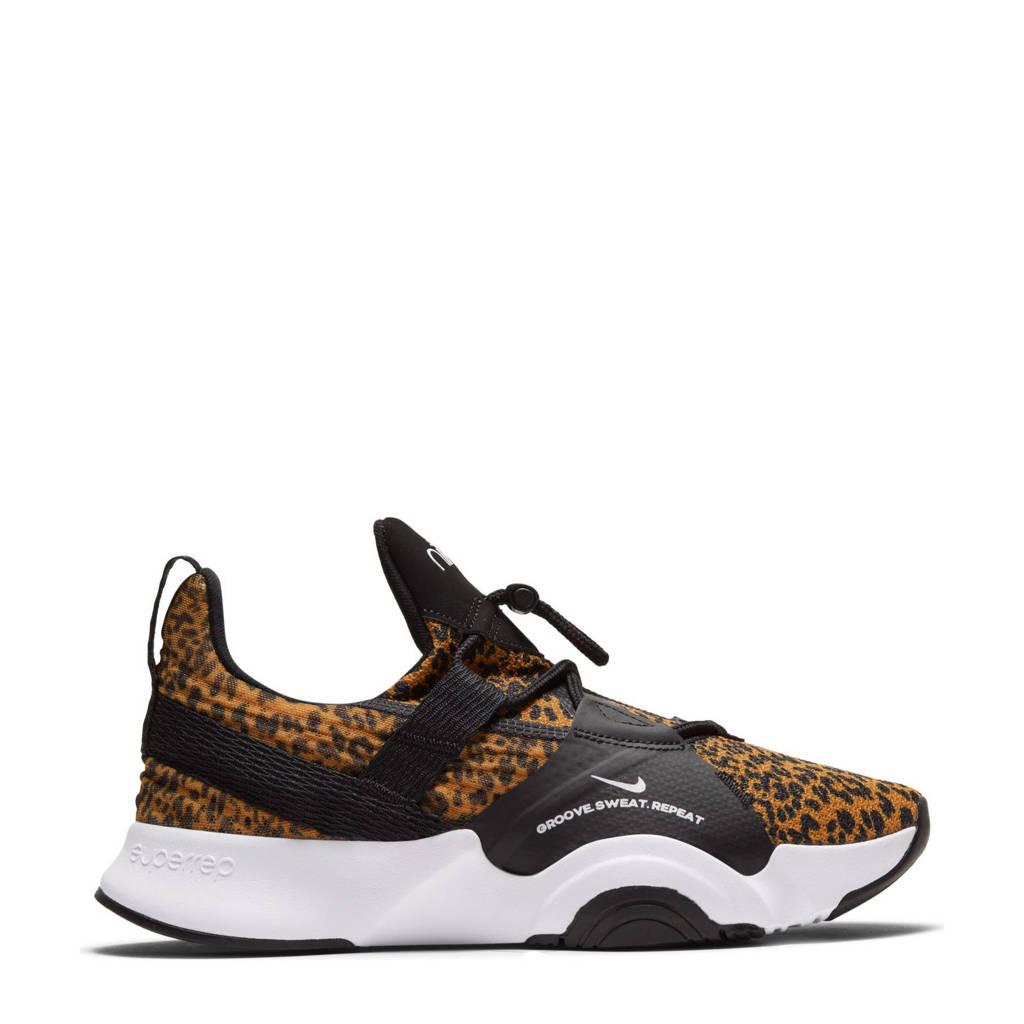 Nike SuperRep Groove fitness schoenen zwart/camel, Zwart/camel/wit