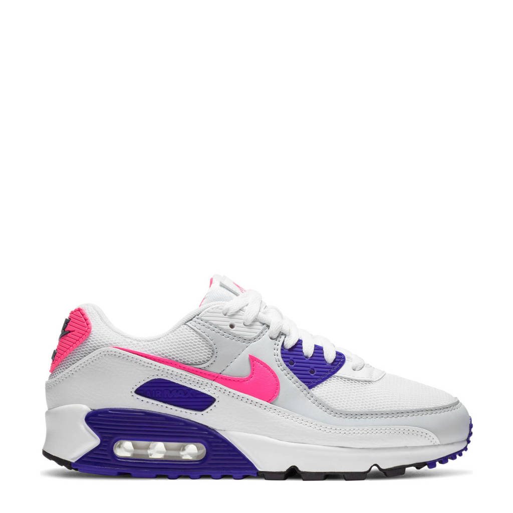 Nike Air Max 90 sneakers wit/paars/roze, Wit/paars/roze