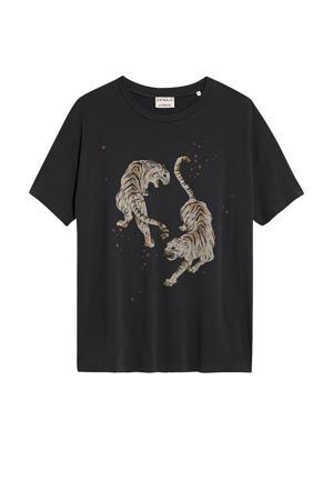 T-shirt Tigre van biologisch katoen donkergrijs