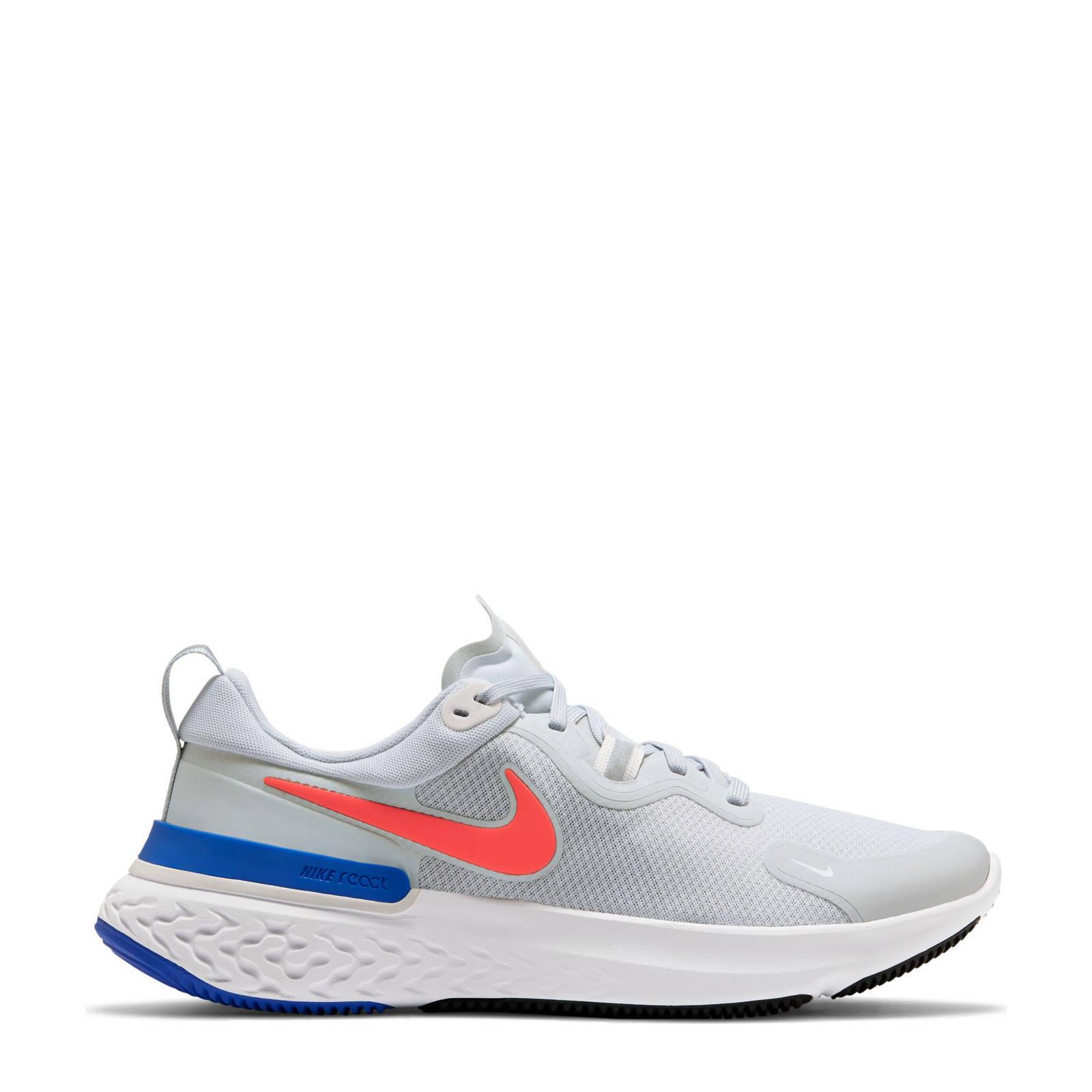 Nike React Miler hardloopschoenen lichtgrijs/oranje/blauw online kopen