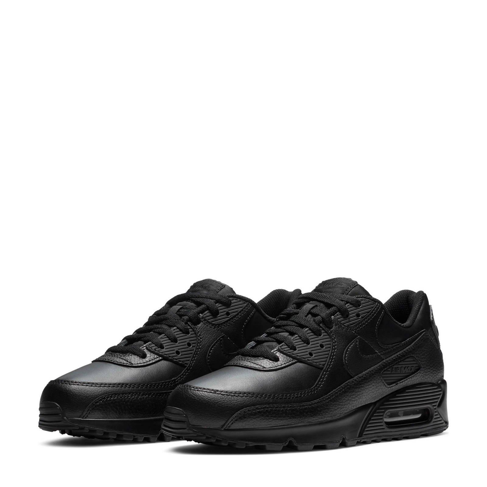 Nike Air Max 90 Ltr leren sneakers zwart | wehkamp