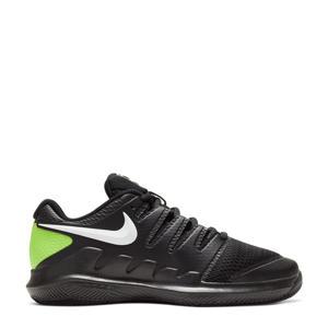 Court Jr. Vapor X  tennisschoenen zwart/wit/limgroen